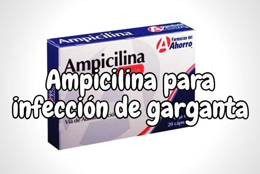 Ampicilina para las infecciones de garganta