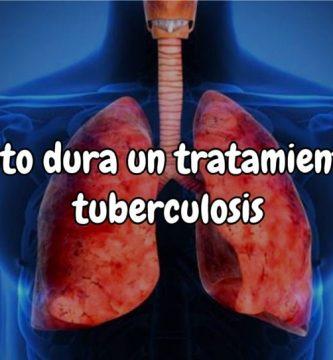 Cuánto dura el tratamiento de la tuberculosis pulmonar