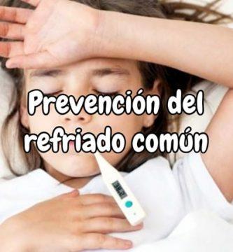 Prevención del resfriado común