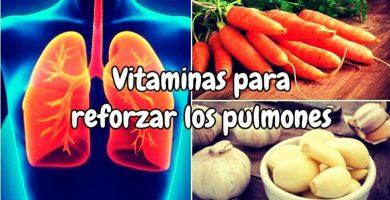 Vitaminas para reforzar los pulmones