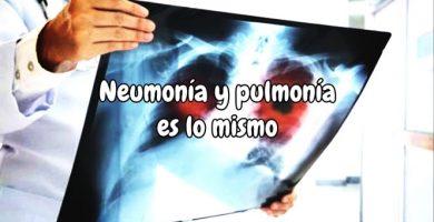 Neumonía y pulmonía es lo mismo