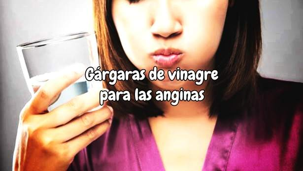 Gárgaras de Vinagre para las Anginas