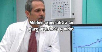 Médico especialista en garganta y boca