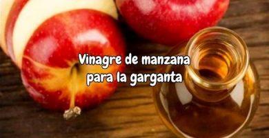 Vinagre de manzana para la garganta