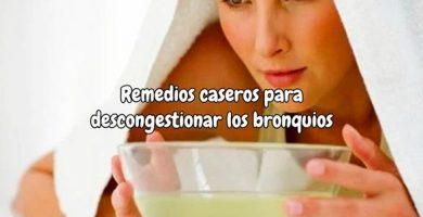remedios caseros para descongestionar los bronquios