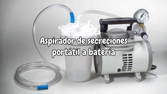 Aspirador de secreciones portátil a batería